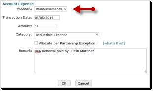 Deductible Expense Reimbursement Step 1