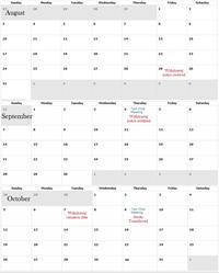 Withdrawal Calendar